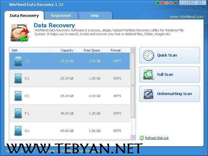 بازیابی اطلاعات پاک شده، WinMend Data Recovery 1.4.5.0