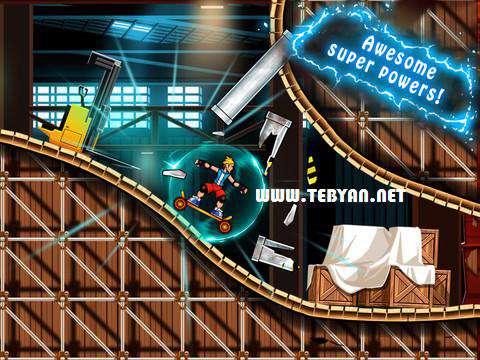 بازی زیبا و مهیج اسکیت سواری نسخه اندروید، Extreme Skater HD 1.0.3