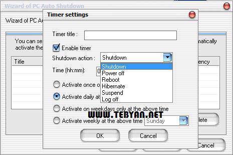 خاموش شدن رایانه به صورت خودکار، PC Auto Shutdown 5.2