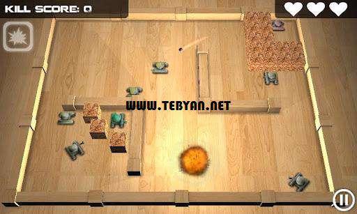 بازی زیبا و جذاب نبرد تانک ها، Tank Hero 1.5.5