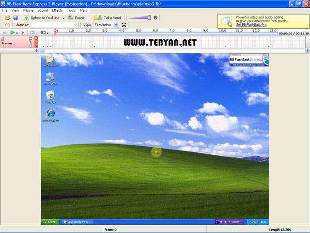 گرفتن عکس و فیلم از محیط دسکتاپ، BB FlashBack Pro 4.0.0.2375