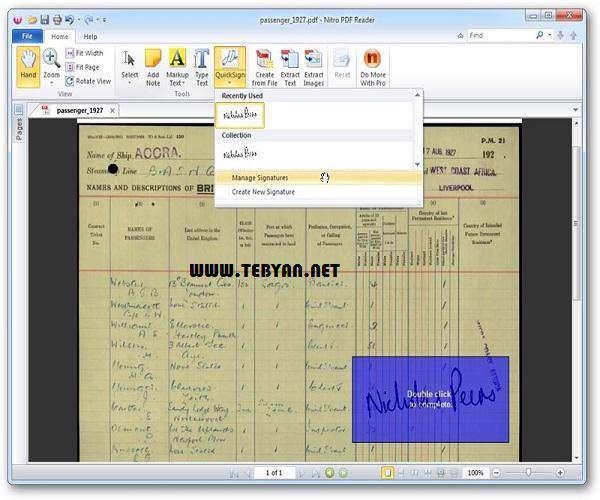 مشاهده فایل های PDF و ویرایش آنها، Nitro PDF Reader 2.5.0.41