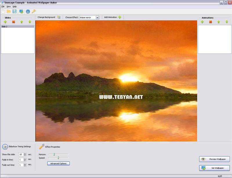 متحرک سازی تصاویر، Animated Wallpaper Maker 3.1.5