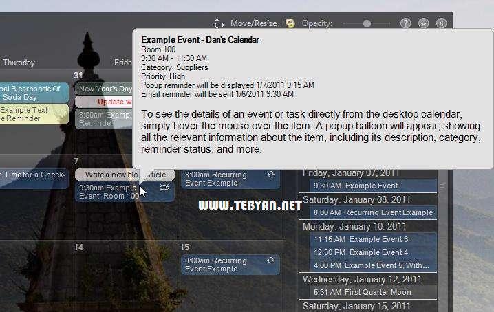 مدیریت کارهای روزانه، VueMinder Calendar Lite 9.1.2