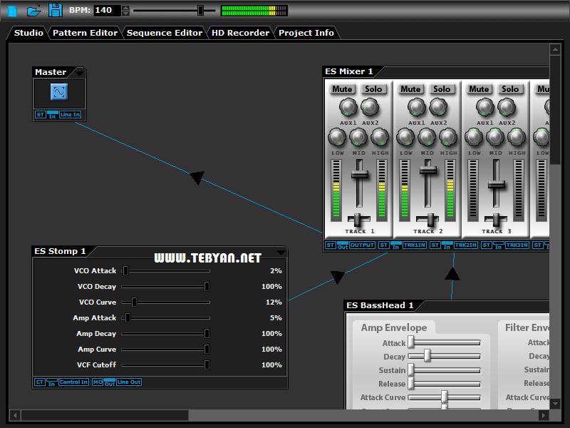 ویرایش و تدوین فایل های صوتی، DarkWave Studio 3.9.7