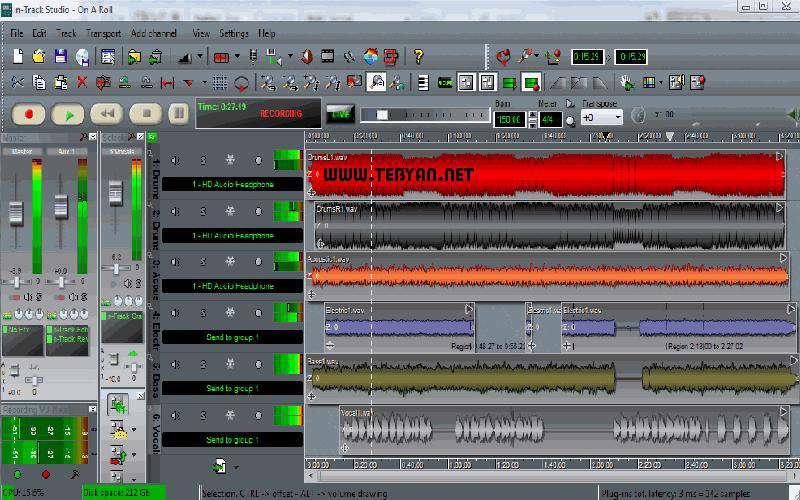 ضبط و ویرایش صدا و فایل های صوتی، n-Track Studio 7.0.0 Build 2943 Final