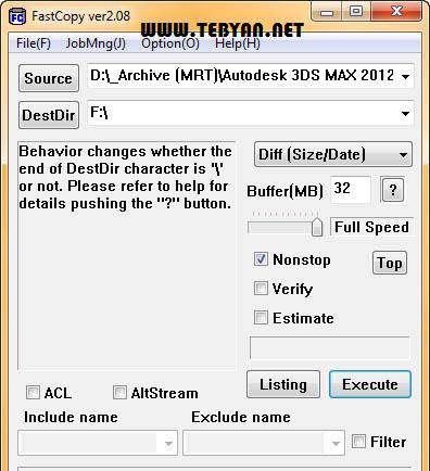 کپی سریع اطلاعات، FastCopy 2.11