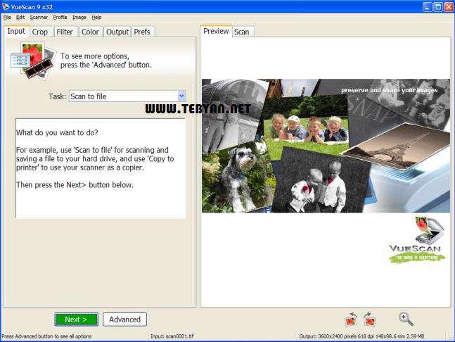 اسکن حرفه ای تصاویر، VueScan pro 9.1.10