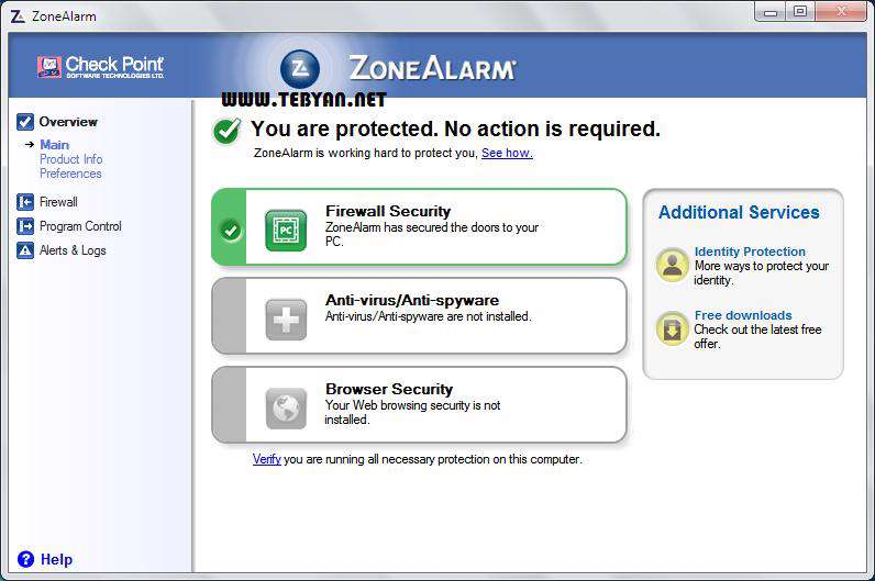 فایروال قدرتمند، ZoneAlarm Free 10.2.47.0