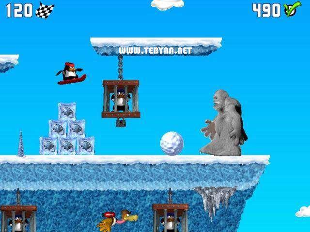 بازی کم حجم و زیبای Pinguin vs Yeti نسخه قابل حمل