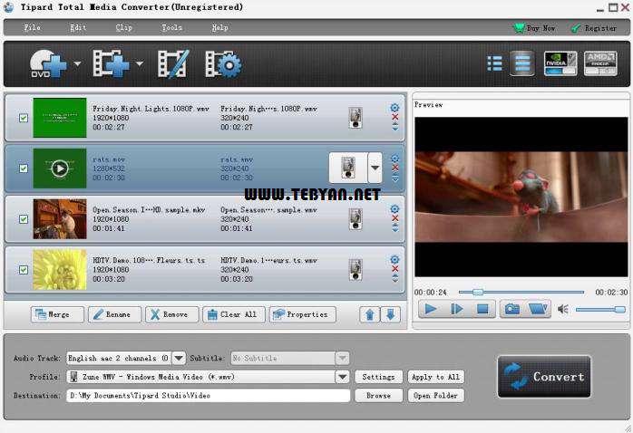 مبدل فایل های چندرسانه ای، Tipard Total Media Converter 6.2.6