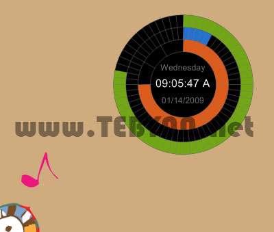 ساعت زیبا برای ویندوز، XUS Clock 1.0.61