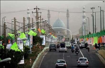 آذین بندی و چراغانی مسجد مقدس جمکران قم در آستانه نیمه شعبان