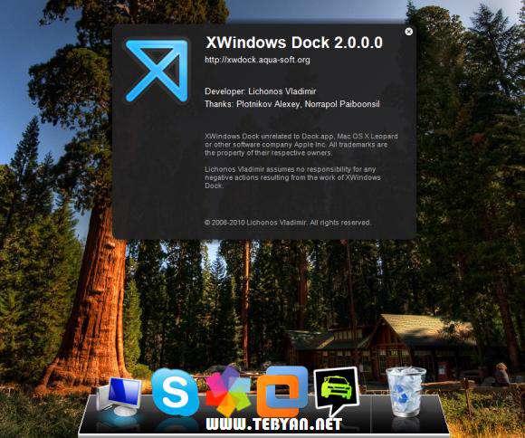 نوار ابزار مکینتاش در ویندوز، XWindows Dock 2.0.3