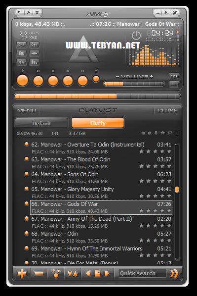 پلیر قدرتمند فایل های صوتی + پرتابل، AIMP 3.10 Build 1072 Final