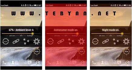تنظیم خودکار نور گوشی نسخه اندورید، Lux Auto Brightness v0.60