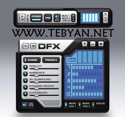افزایش کیفیت فایل های صوتی، DFX Audio Enhancer 10.138