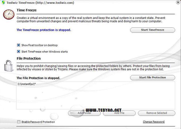 محافظت از سیستم در برابر تغییرات ناخواسته، Toolwiz Time Freeze 1.9.2.0