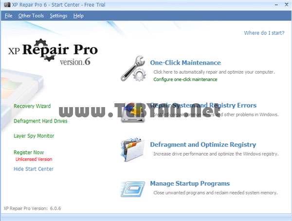 تعمیر ویندوز ایکس پی، XP Repair Pro 6.0.6 Final
