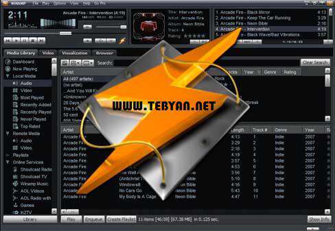 پلیر قدرتمند فایل های صوتی + پرتابل، Winamp Pro 5.63