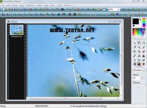 ویرایش و روتوش تصاویر + پرتابل، PhotoFiltre Studio x 10.6.1