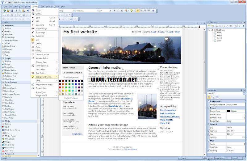 طراحی وب سایت + پرتابل، WYSIWYG Web Builder 8.5.1