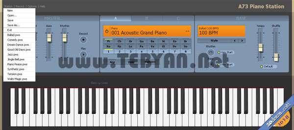 پیانوی مجازی در کامپیوتر، A73 Piano Station 1.1.0