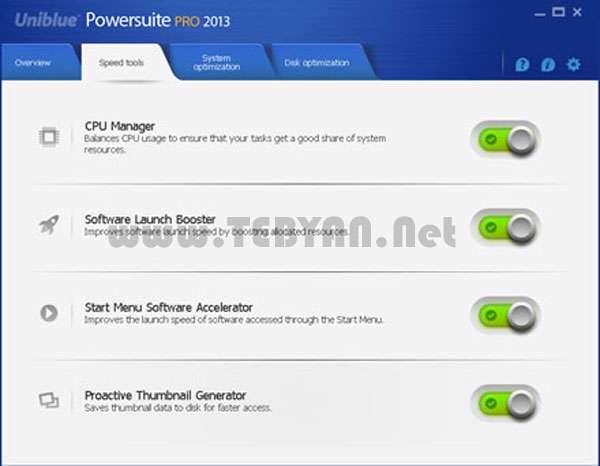 بهینه سازی و افزایش سرعت کامپیوتر، Uniblue PowerSuite 2013 4.1.1.5