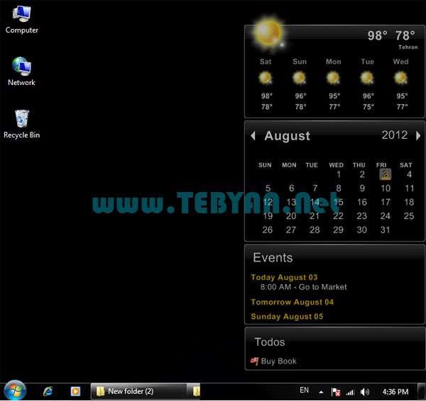وضعیت آب و هوا و تقویم، Desktop iCalendar 1.9.5.2