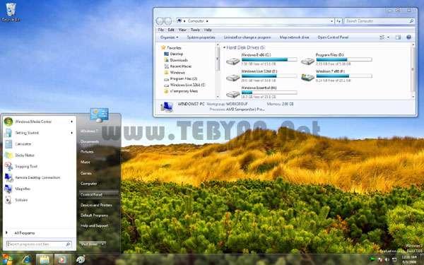 پوسته (تم) ویندوز هشت برای ویندوز 7 ، Windows8 Theme For Win7