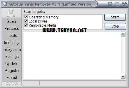 حذف قدرتمند ویروس اتوران، Autorun Virus Remover 3.2 Build 0818