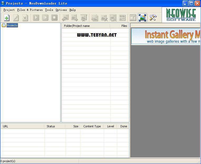 ذخیره کامل اطلاعات وبسایت، NeoDownloader 2.9.2 Build 175