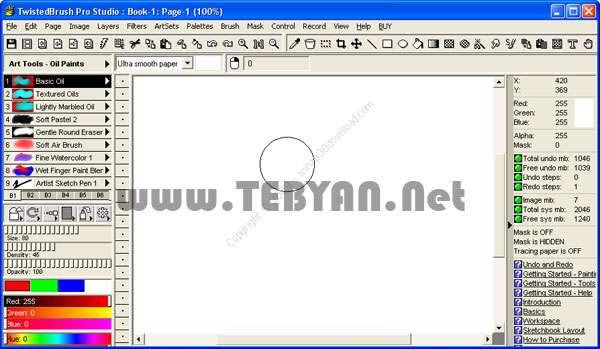 طراحی و ویرایش تصاویر دیجیتال، TwistedBrush Pro Studio 18.18