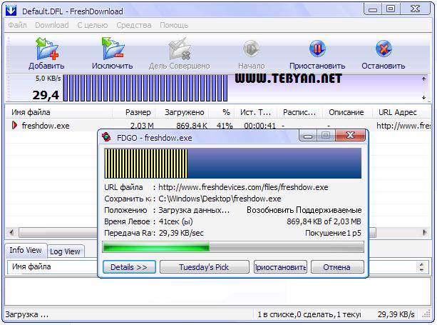 مدیریت دانلود، Fresh Download 8.78