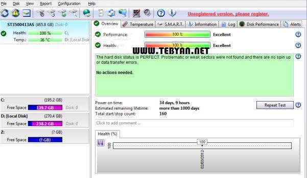 نگهداری از هارد دیسک، Hard Disk Sentinel Pro 4.10 Build 5816