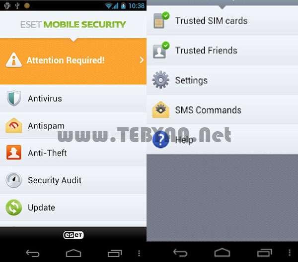 بسته امنیتی ESET نسخه اندروید، ESET Mobile Security 1.1.603.893