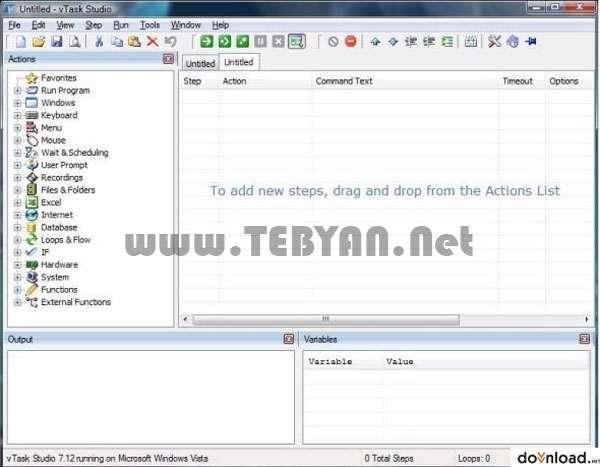 مدیریت اتوماتیک فعالیت های روزانه کامیپوتر، vTask Studio 7.83