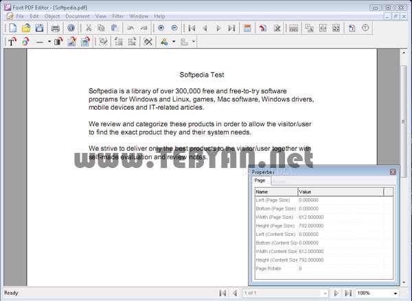 ویرایش فایل PDF به همراه نسخه قابل حمل، Foxit PDF Editor 2.2.1.1119
