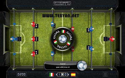 بازی مهیج فوتبال دستی نسخه اندروید، Foosball Cup v1.0.3