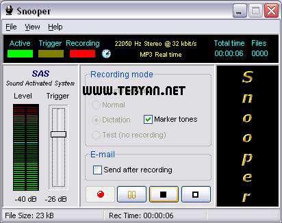 ضبط صدا به صورت مخفی، Snooper 1.37.4