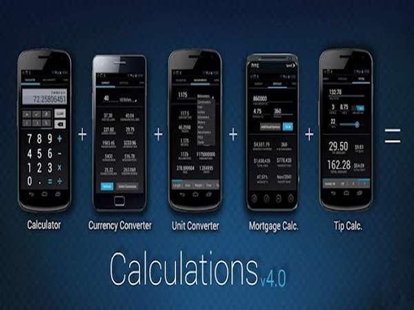 ماشین حساب چندکاره نسخه اندروید، Calculations 4.0 Pro v1.2.8