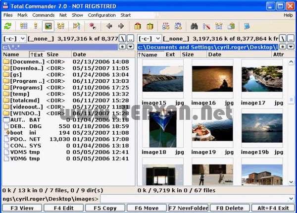 مدیریت فایل و فولدر به همراه نسخه قایل حمل، Total Commander 8.01 Final