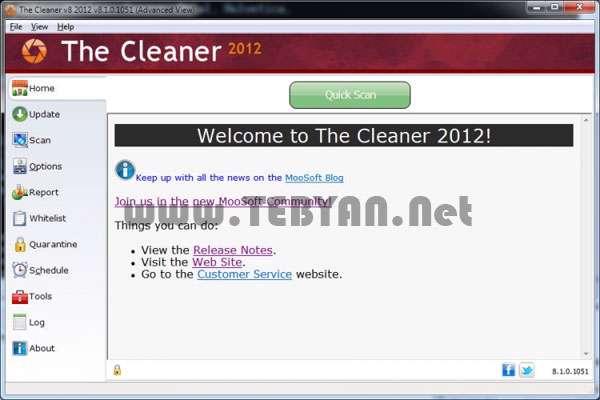 آنتی ویروس و ضد جاسوس، The Cleaner 2012 8.1.0.1111