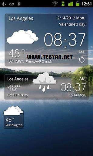 آخرین وضعیت هواشناسی نسخه اندروید، GO Weather EX 2.51