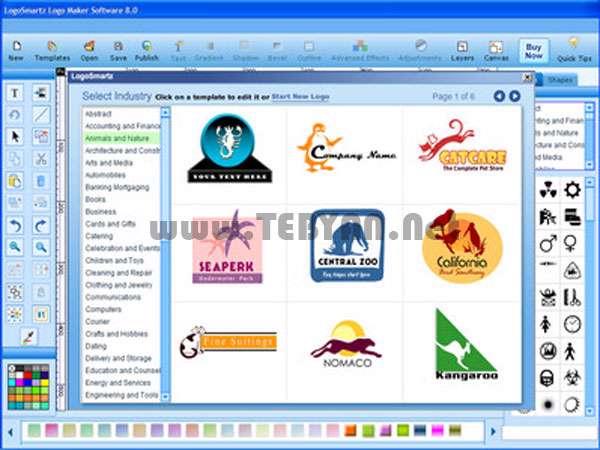 طراحی انواع آرم و لوگو، LogoSmartz Logo Maker 10.0
