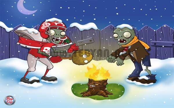 بازی مهیج گیاهان علیه زامبی در کریسمس، Plants vs Zombies in Xmas