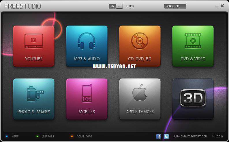 ابزار کاربردی و رایگان فایل های چندرسانه ای، Free Studio 5.7.4.918
