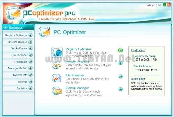بهینه سازی و افزایش سرعت کامپیوتر + پرتابل، PC Optimizer Pro 6.4.5.8