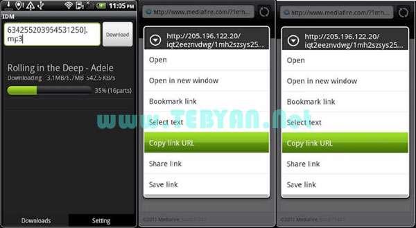 مدیریت قدرمند دانلود نسخه اندروید، Internet Download Manager v1.2