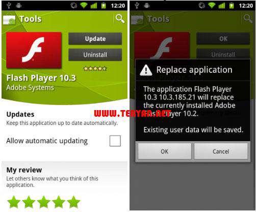 اجرای فلش در اندروید، Adobe Flash Player 11.1.115.20 Android